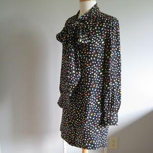 MARC JACOBS 100% Silk Black Shirt Dress